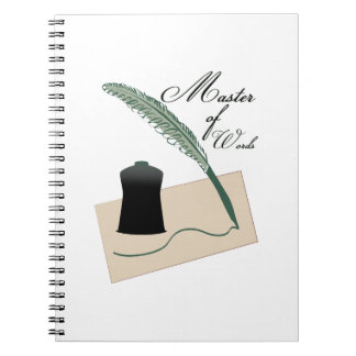 Master Of Words Spiral Note Book