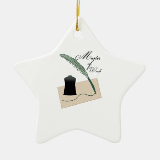 Master Of Words Christmas Ornaments