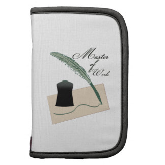 Master Of Words Folio Planners