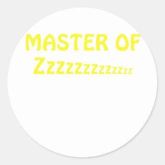 Master of Zzzzzzzz Classic Round Sticker
