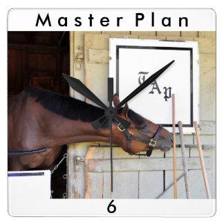 Master Plan - Todd Pletcher Square Wall Clock