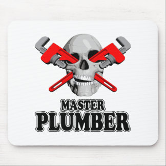 Master Plumbers Skull Mouse Pad