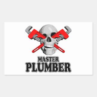 Master Plumbers Skull Sticker