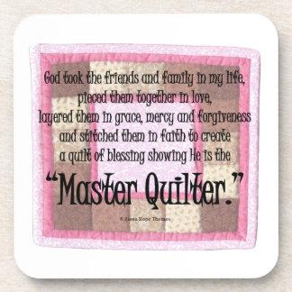 Master quilter beverage coaster