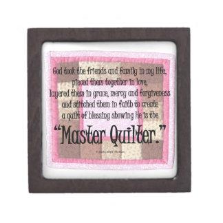 Master quilter keepsake box