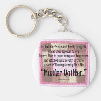 Master quilter keychain