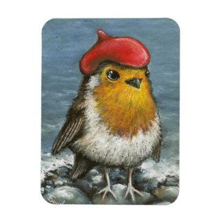 Master robin at the seaside rectangular photo magnet