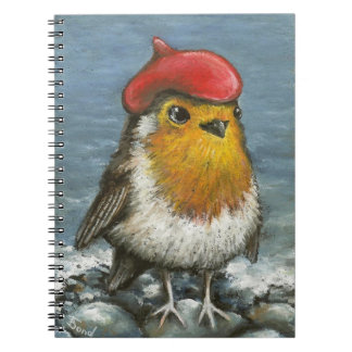 Master robin at the seaside spiral notebook
