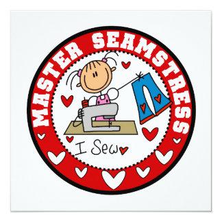 Master Seamstress 5.25x5.25 Square Paper Invitation Card