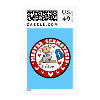 Master Seamstress T-shirts and Gifts Stamps