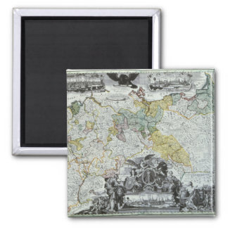 Master Sheet of the Prussian Sovereign 2 Inch Square Magnet