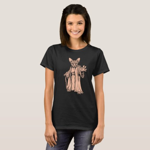 Master Sphynx Cat _ Dark T_shirt for Women