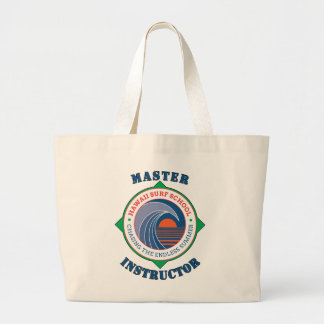 Master Surfing Instructor Hawaiian Surf School Large Tote Bag