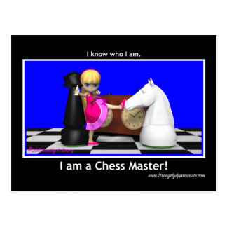 Master the Game (Chess Master) Postcard