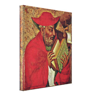 Master Theodoric of Prague - St Jerome Stretched Canvas Prints