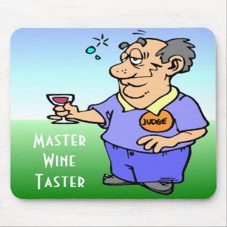 Master wine taster cartoon mousepad