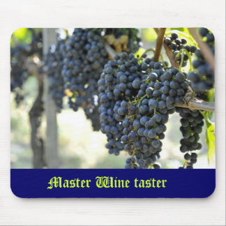 Master Wine taster with grapes Mousepads