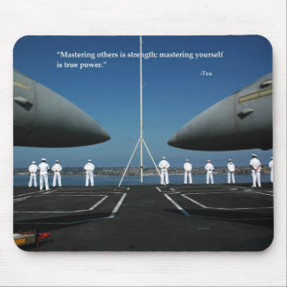 Mastering others is strength; mastering yourself mouse pad