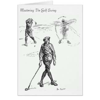 Mastering The Golf Swing - Greeting Card