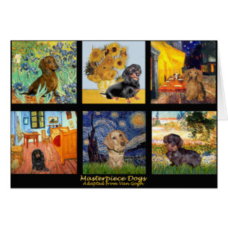 Masterpiece Composite-Dachshunds Greeting Card