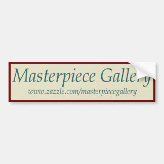 Masterpiece Gallery Logo, Image, Title and URL Bumper Sticker