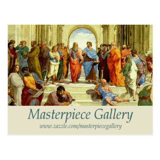 Masterpiece Gallery Logo, Image, Title and URL Postcard