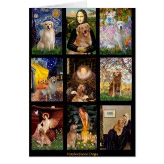 Masterpiece Golden Retrievers Card