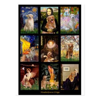 Masterpiece Golden Retrievers Postcard