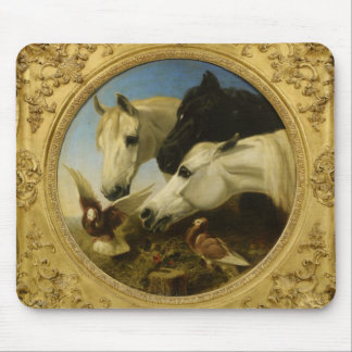 Masterpiece horse & dove painting John Herring Mouse Pad