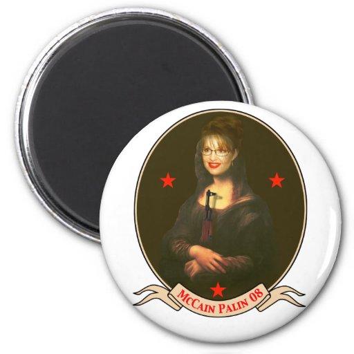 Masterpiece McCain Palin 2008 2 Inch Round Magnet