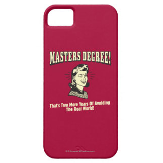 Masters Degree: Avoiding the Real World iPhone SE/5/5s Case