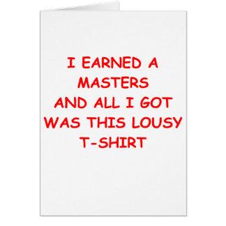 masters degree greeting card