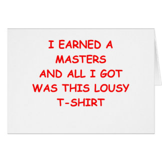 masters degree card
