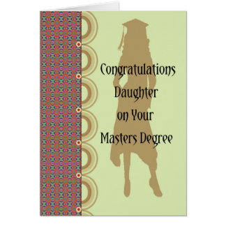 Masters Degree Card for Female.