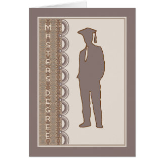 Masters Degree Card for Son, or Anyone