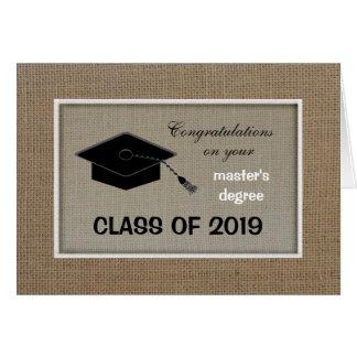 Masters Degree Graduation Card
