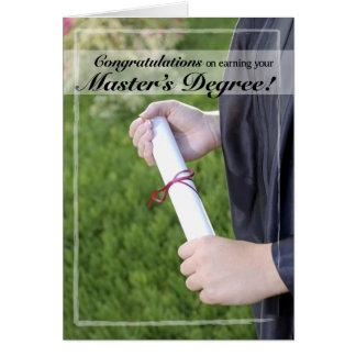 Master's Degree Graduation Congratulations Card