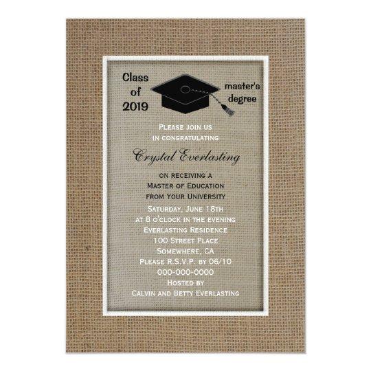 Masters degree graduation invitation zazzle masters degree graduation invitation filmwisefo