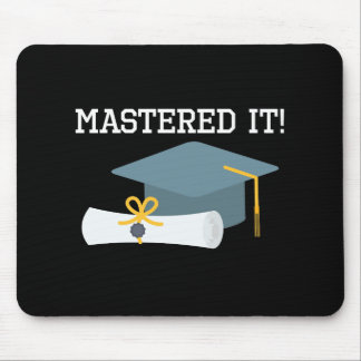 Masters Degree Graduation   MBA MSW Grad Gift Mouse Pad