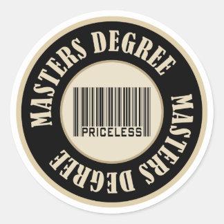 Masters Degree Priceless Classic Round Sticker