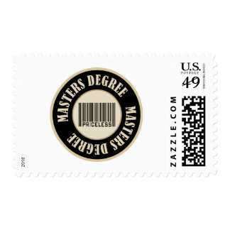 Masters Degree Priceless Postage Stamps