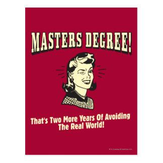 Masters: Evitar el mundo real Postal