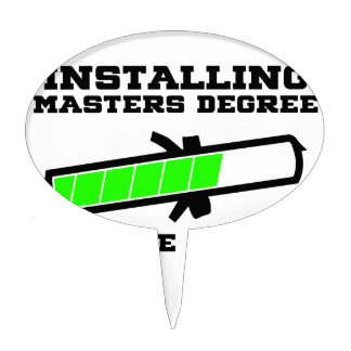 masters student cake topper