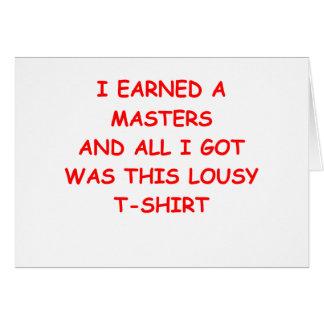 masters tarjeta