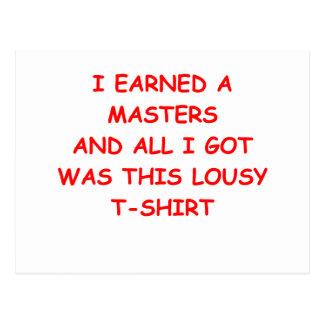 masters postales