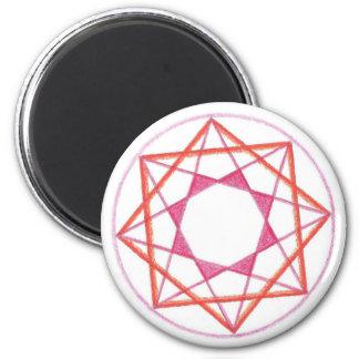 Mastery Mandala #2 2 Inch Round Magnet