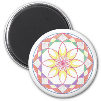 Mastery Mandala 2 Inch Round Magnet