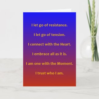 MASTERY OF THE MOMENT - GREETING CARD