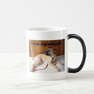 Mastif, I love my mastif. 11 Oz Magic Heat Color-Changing Coffee Mug