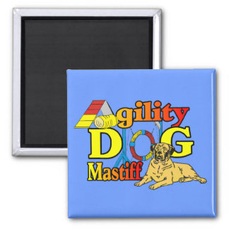 Mastiff Agility Dog Gifts 2 Inch Square Magnet